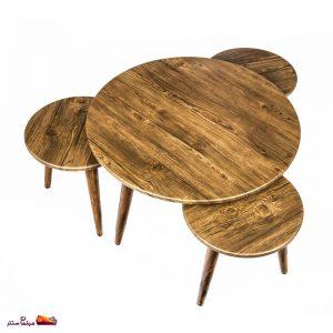 میز جلو مبلی گرد آنتیک طلایی وودیمو