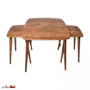 میز جلو مبلی مربع منحنی آنتیک طلایی وودیمو