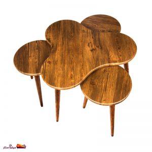 میز جلو مبلی طرح گشنیز آنتیک طلایی وودیمو