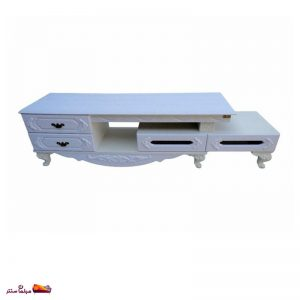 میز تلویزیون ۱۴۰ سانت ۲ تکه سفید پدیده