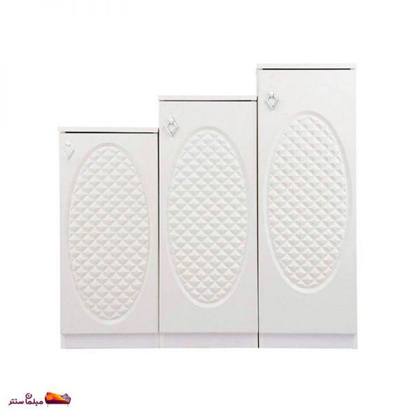 جاکفشی پلکانی 3 تکه سفید وودیمو C301W