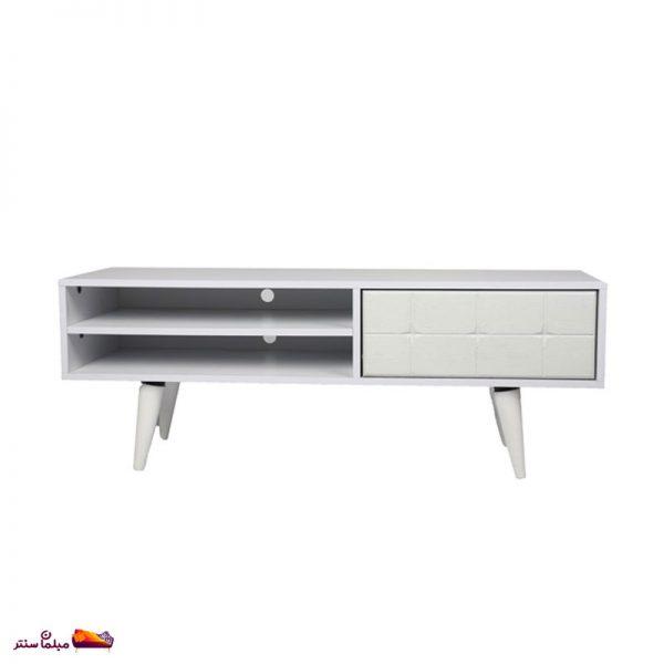 میز تلویزیون 120 سانت تک کشو سفید B154-W