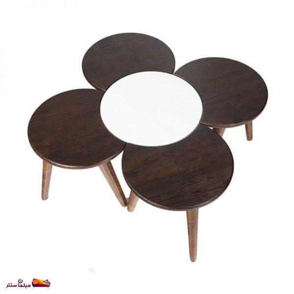 میز عسلی طرح گل وودیمو D14