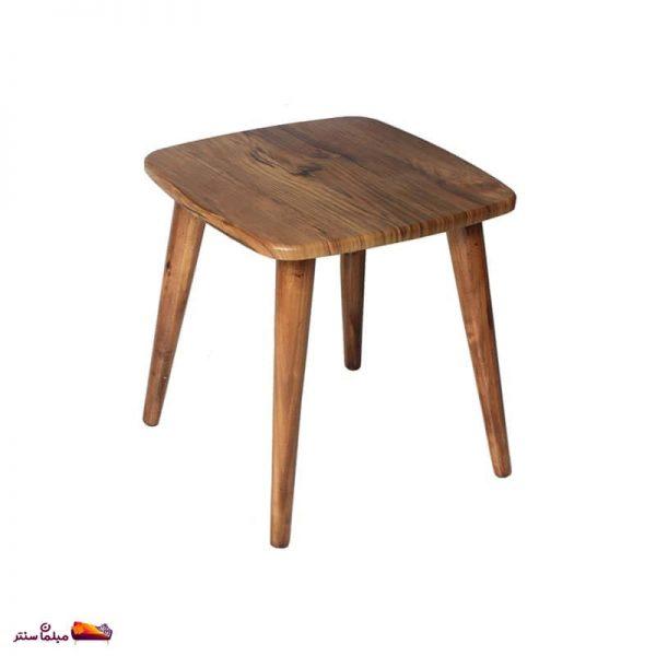 میز عسلی مربع منحنی آنتیک طلایی وودیمو D20AN